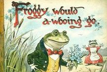 "Froggie Went a Courtin' / ""Frog went a-courtin' and he did ride, uh-huh; Frog went a-courtin' and he did ride, uh-huh. Frog went a-courtin' and he did ride; With a sword and a pistol by his side, uh-huh."" ~Lyrics by Tom Ritter.  ""Frogs have it easy, they can eat what bugs them"" ~Anonymous.  ""I'd kiss a frog even if there was no promise of a Prince Charming popping out of it. I love frogs."" ~Cameron Diaz (b. 1972) American actress & former model"