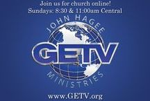 "GETV / Want to watch some great sermons?  Here you'll find links to watch them online at www.GETV.org - absolutely free! GETV is an internet based video channel with a mission to preach the Gospel of Jesus Christ to the ends of the Earth. GETV features both ""LIVE"" and ""ON-DEMAND"" programming. ALL NEW programs by Pastor John Hagee and Pastor Matt Hagee that you cannot watch anywhere else."