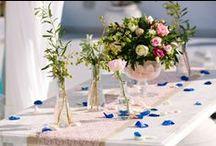Wedding Ceremony decoration / Destination weddings in Santorini - Ideas of decorating the ceremony venue.