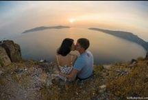 Photo shooting locations in Santorini