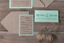 Hochzeitspapeterie / Hier findet ihr Ideen für Einladungen, Tischkarten, Menükarten uvm.