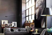 intérieur sombre / dark walls | black | bricks