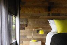 intérieur bois / l'application de l'arbre