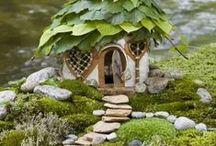 Miniature houses, fairyhouse / Kicsi házacskák a kertben