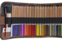 Watercolor Pencils - JNW Direct's Madison Set (48) / This board showcases our Madison set of watercolor pencils with over $20 worth of free accessories included in the price.  http://www.jnwdirect.com/madison-watercolor-pencil-set/