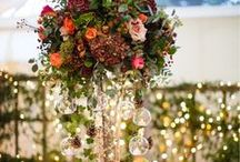 Tall Table Arrangements / Inspiration for tall table centrepieces (centerpieces) from our work and our favourites from the web