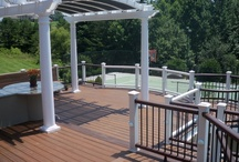 Curved Trex Deck / We are a Trex Pro Platinum Contractor.  We design, and build decks all over Lexington, and central Kentucky! call 859-396-3212 for a free quote or log on to: www.deckadentdesigns.com  This deck was awarded the most creative design by Trex for 2012!