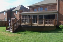 Trex Porch and Curved Deck