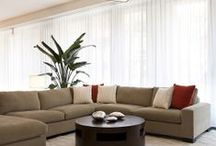 """Sheer Curtains / Sheer Curtains installations by Shades By Design.  """"sheer curtains can transform a space if designed right, a soft touch for a modern apartment.   check out our other boards for more style. www.shadesbydesign.com"""