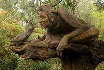 Sculpture of wood