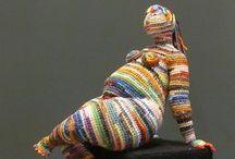 Crazy crochet and knit art