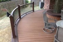 2014 Trex Decks / These are some of our favorite Trex Decks from 2014, some with great curves, some with aluminum railings.  All with the worry free 25 year fade and stain warranty!