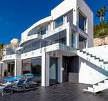 Costa Blanca Spain / Amazing contemporary property in Costa Blanca, Spain, with a splendid panoramic ocean view, still available for the summer 2015. Book it now: http://goo.gl/OeOxoH