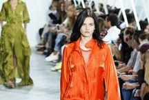Citrus Boost / Dubbed the new power colour, it seems orange is the only fruit for SS16. Popping up in all hues from cinnamon to tangerine, we love this punchy, luminous shade, sported by Lacoste. Flame on!