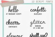 DESIGN   Typography / Fonts, Scripts & More Fonts