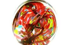 Paperweights / Add a little art to your workspace with hand-blown glass paperweights.
