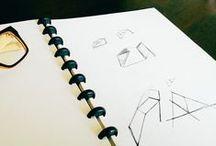 Sketchs / Sktechs de alguns dos logotipos que desenvolvi