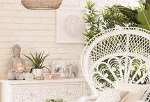 :) Bohemian Living room / Add personality to your l living room and house with this bohemian interior guide: add texture with textiles, plants and maybe some Colour :)