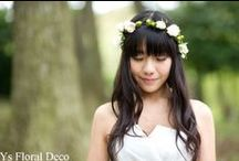 bride's photo  花冠バージョン  flowercrown / ys floral deco