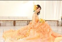 bride's photo 黄色オレンジドレスバージョン yellow&orange-dress / ys floral deco