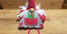 bambole feltro lana / bambole di feltro