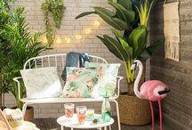 Deco -  Tropiques & flamants roses