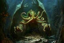 Megalohydrothalassophobia / Big scary things under the deep sea.