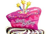 Large Happy Birthday Foil Shape Balloons / Large Happy Birthday Foil Shape Balloons
