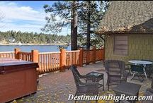 Big Bear Lakefront Cabins / Enjoy spending a weekend on the lake with your friends and family at one of our lakefront cabins - many have private boat docks as well!  Destinationbigbear.com  909-752-0234