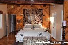 Cabin Bedroom Ideas / So many different types from Master Suites to Studios - many bed types with families staying in one room to private bedrooms for couples!  www.DestinationBigBear.com  909-752-0234