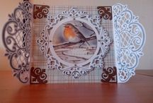 Cards I made / Making cards with the Sizzix big shot and by cutting with hand