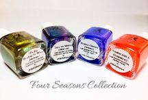 Four Seasons Collection / Four thermal polishes represent the four different seasons - Sandcastle (summer) - Purple Crocus (spring) - Do You Be-Leaf in Magic (Autumn) - Fall to Winter (winter)