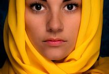HEADSCARVES - LADY'S FASHION / Headscarves or head scarves are scarves covering most or all of the top of a woman's hair and her head, leaving face uncovered. Headscarves may be worn for a va