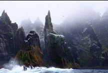 Skellig Michael / One of the eerie settings for Dark Rising, Book 2 of the Archangel Prophecies.