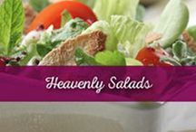 Heavenly Salads / Salads aren't just for health nuts. See how you can jazz up your favorite combination of ingredients to make it a wonderful treat!