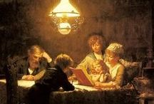 Family Reading / Images of families or relatives reading together