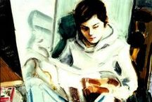 Contemporary Portraits: Female Readers, late 20th century-present / Portraits by living or recently deceased artists, depicting women and girls reading.