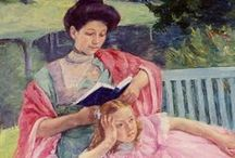 Readers by Female Artists / Depictions of readers in art, illustration, and sculpture, seen through the eyes of women artists.