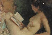 Word and Flesh: Readers en dishabille / Readers nude, semi-nude or en dishabille.