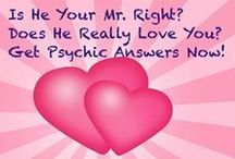 Psychic Readings - Does He Love You? / http://www.psychic-readings-stories.com/is-he-your-mr-right-psychic-readings-love-hints/  Is he your Mr. Right?