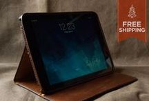 iPad Leather Cases / Stands / Compatible with Apple iPad mini and iPad Air.