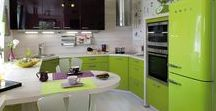 Cuisines en Couleurs : Vert / Aménagement de cuisine colorée - Nature, Zen ou Pep's, optez pour du vert pomme ou gazon.