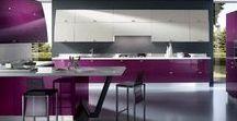 Cuisines en Couleurs : Violet / Aménagement de cuisine colorée - Pour une cuisine moderne et chaleureuse, le violet est l'indispensable déco.