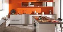 Cuisines en Couleurs : Orange / Aménagement de cuisine colorée - Du orange dans la cuisine pour un style dynamique et survitaminé !