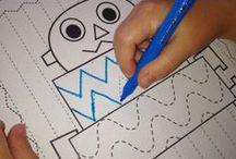 Pre-Writing & Handwriting Activities {ELA} / Activities that help develop pre-writing and early writing skills. Suitable for homeschool, childcare, preschool and kindergarten.