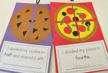 Fractions Activities {Math} / Activities for teaching fractions. Suitable for homeschool, kindergarten, first grade, second grade and third grade.