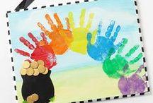 Saint Patrick's Day Activities {March} / Saint Patrick's day activities such as leprechauns, clovers, pots of gold and rainbows. Suitable for homeschool, childcare, preschool, kindergarten, first grade and second grade.