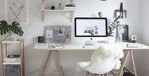 Home Office Ideas / Ideas for setting up and decorating a home office space. Decor, organization etc.