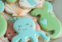 Decorated Cookies & Sweet Treats / Ideas for baking and decorating cookies. Recipes for sweet treats :)