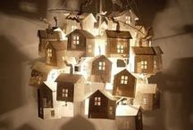 Little houses,paper/cake/material